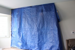 Lets tarp off the main construction area in an effort to reduce contaminates.
