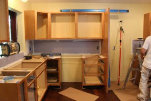 The Cabinetry Installation is going smoothly. Everything is Square, Level and Plumb!
